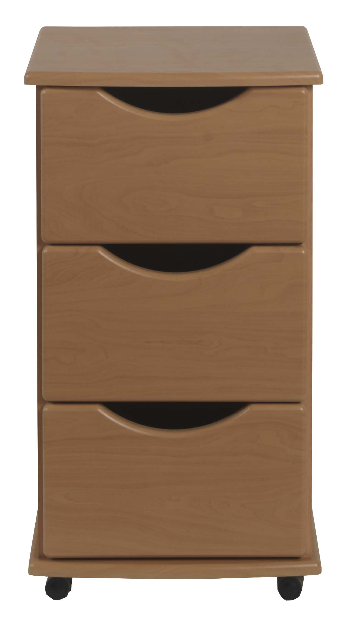 3 drawer bedside with top lock in beech