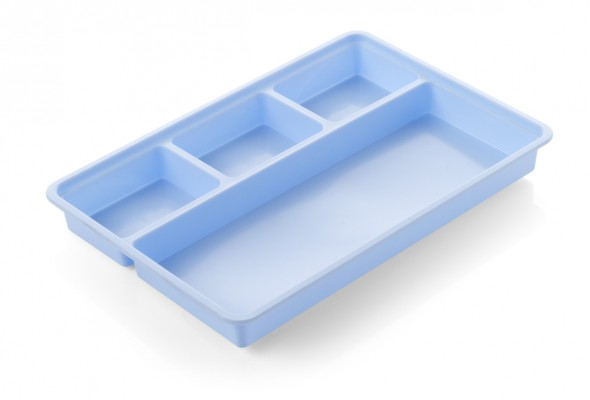 Semi-Disposable Dressing Trays - 4 Compartment