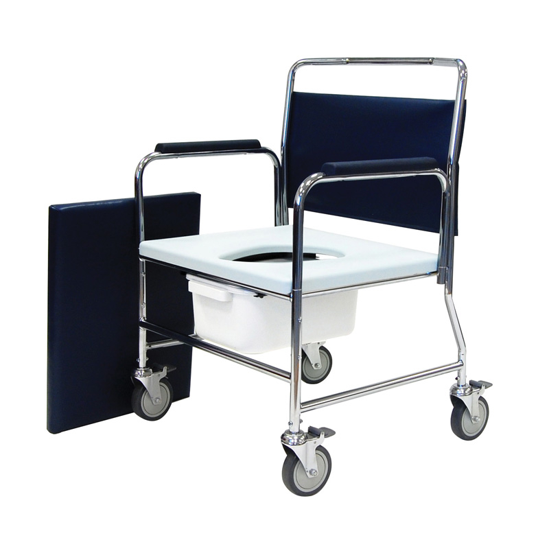 Mobile commode 24inch wide bariatric 318kg/40stone