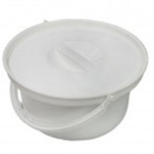 Commode pot and lid for mobile commode