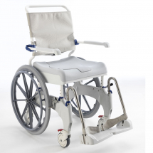 Aquatec Ocean Ergo Self Propel Shower Chair with Sanitary Pan