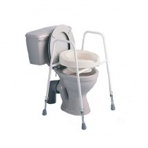 Raised Toilet seat/frame Adjustable Height
