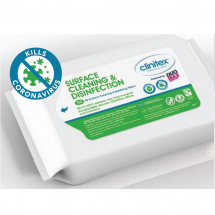Clinitex Surface Cleaning & Disinfect Wipes R619 12x100