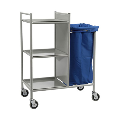 Bed/Patient Changing Trolley with 3 shelves