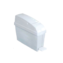 White 12ltr pedal operated sanitary bin