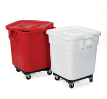 Huskee Bin - White with Lid & Wheels