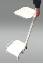 Free Standing Refuse Sack Holder (White) open sides