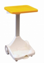 Free Standing Refuse Sack Holder (Yellow) open sides