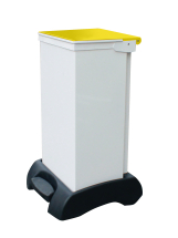 FR white body with yellow lid 70ltr