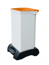 FR Bodied Sack holder, white body with orange lid 60ltr