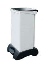 FR Bodied Sack holder, white body with black lid 60ltr