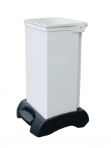 FR Bodied Sack holder, white body with white lid 70l
