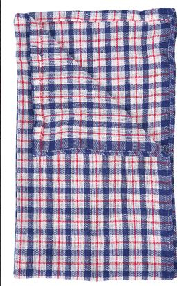 Coloured check tea towels