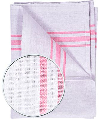 White cotton tea towel